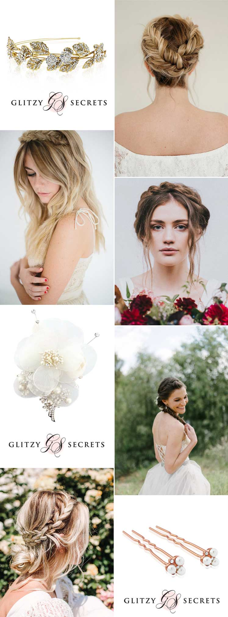 fabulous wedding hair accessories for bridal braids