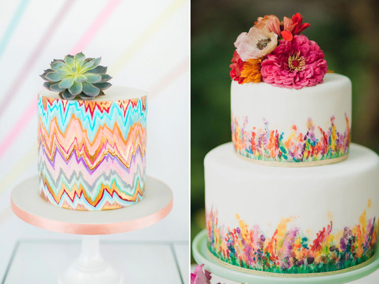 Stunning Hand Painted Wedding Cakes