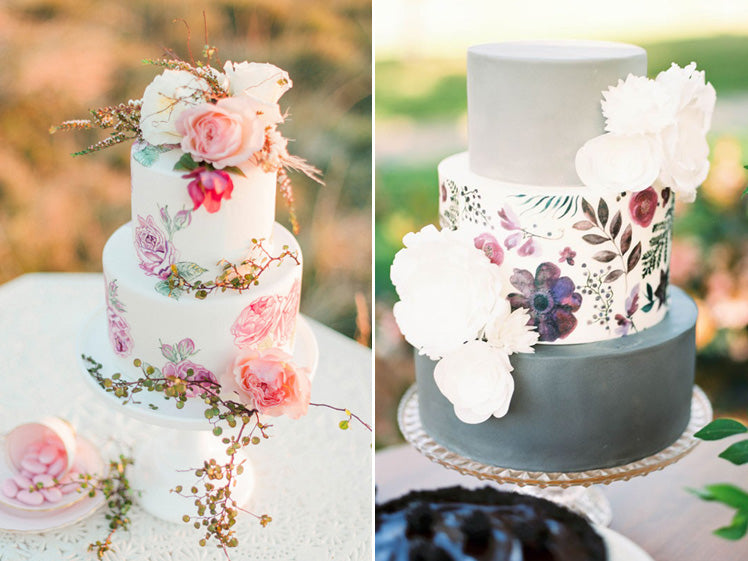 beautiful hand painted wedding cakes