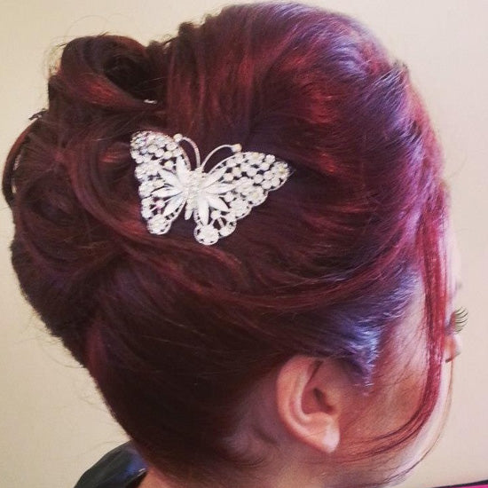 Hannah wears Fluttering Dream Hair Clip by Glitzy Secrets