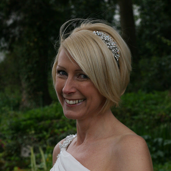 Helen wears Heirloom of Beauty Side Tiara by Glitzy Secrets