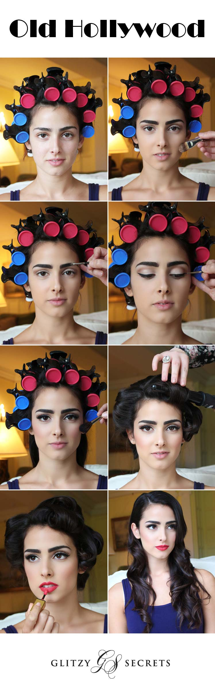 Hollywood style hair and make up tutorial