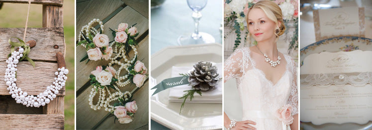 Inspiration for including pearls in your wedding day
