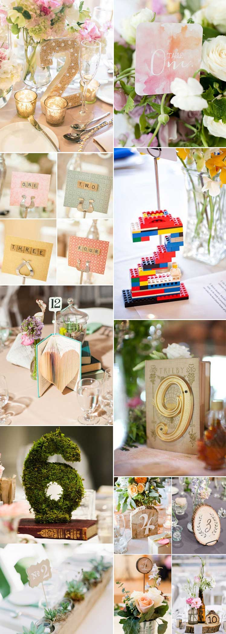 beautiful and inspirational wedding table numbers