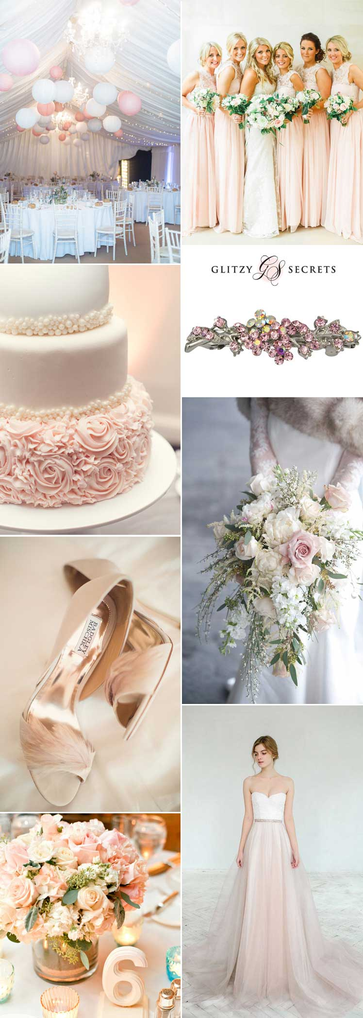 Ivory and blush wedding theme ideas