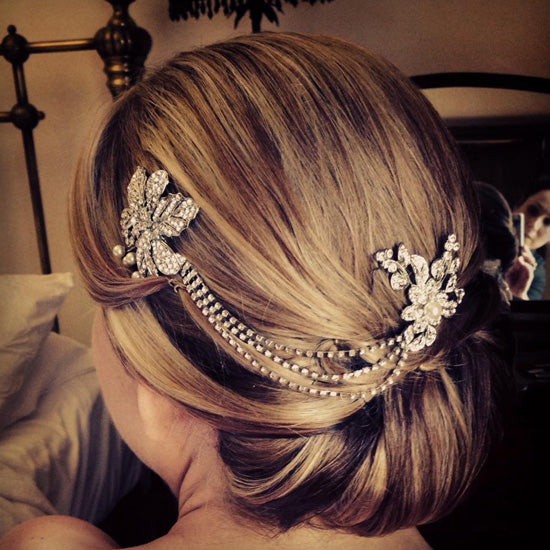 Jane wears Bygone Blossoms Headpiece by Glitzy Secrets