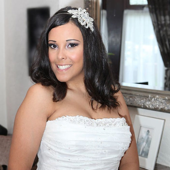 Jemma wears Treasured Pearl Side Tiara by Glitzy Secrets