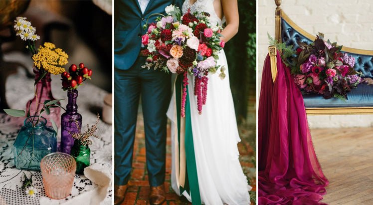Luxurious jewel tone wedding colours