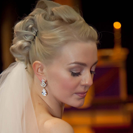 Jo wears Precious Heiress Earrings by Glitzy Secrets