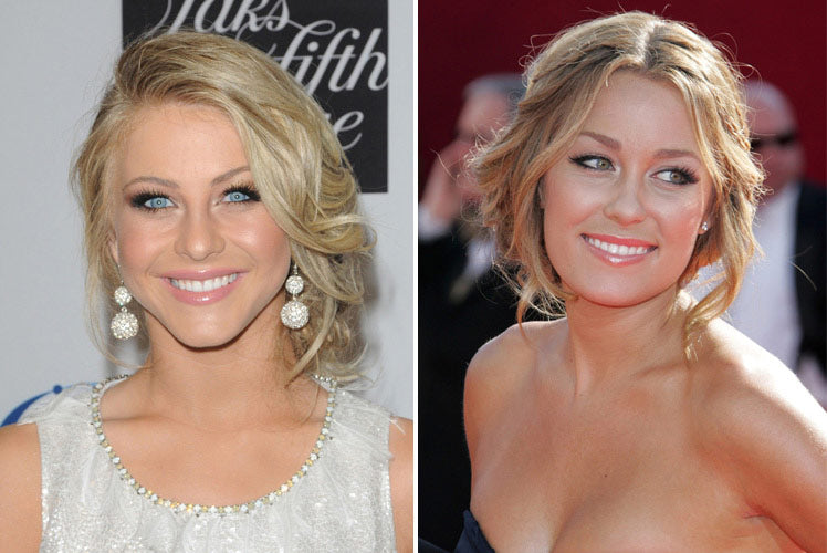 Julianne Hough and Lauren Conrad opt for a soft chignon