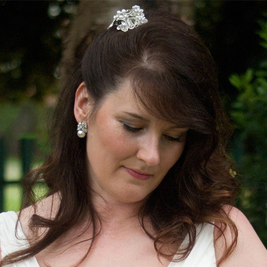 Karen wears Bow of Pearls Hair Clip by Glitzy Secrets