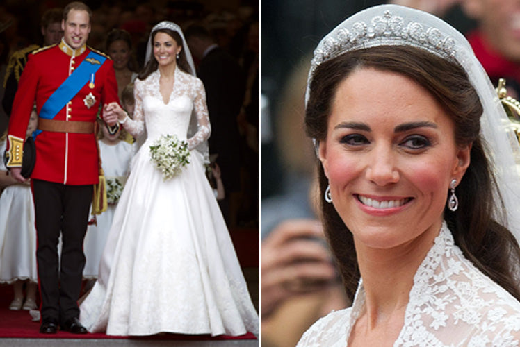 Kate's stunning wedding dress designed by Sarah Burton