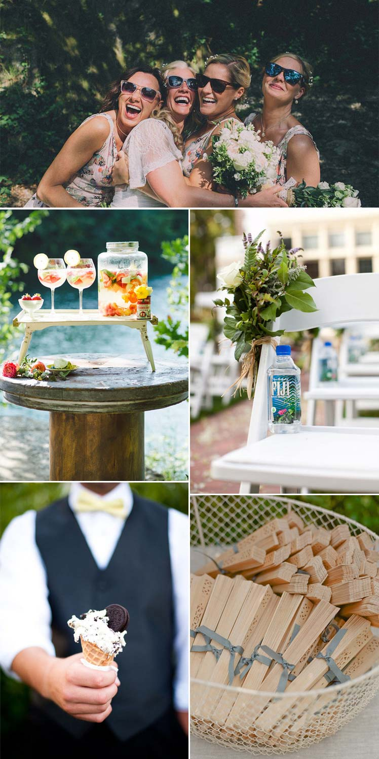 tips to keep you and your guests cool at a summer wedding