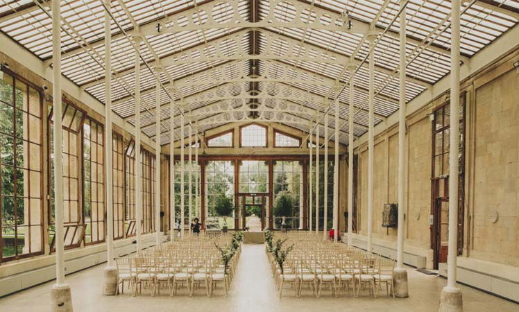 Kew Gardens London for a chic wedding venue