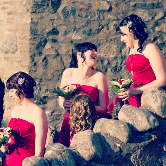 Kimberley Bridesmaid's wear Vintage Beauty Hair Clips by Glitzy Secrets