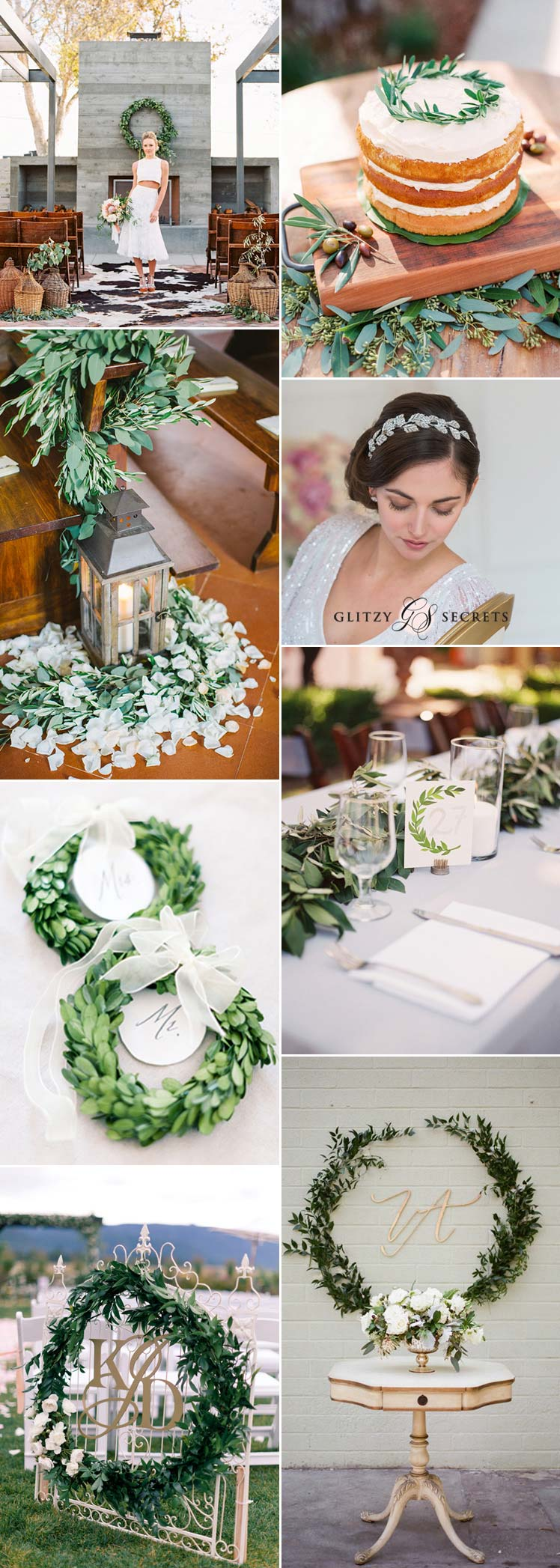 beautiful laurel leaf wedding inspiration