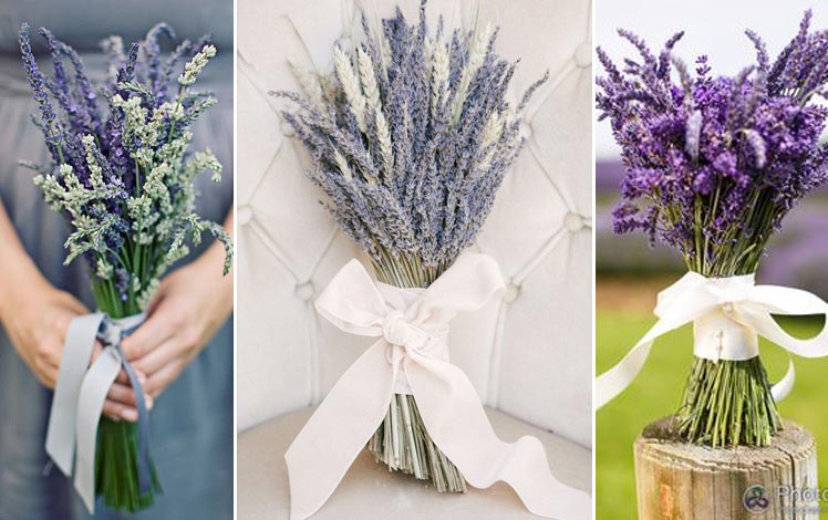simple but incredibly beautiful - lavender wedding bouquets