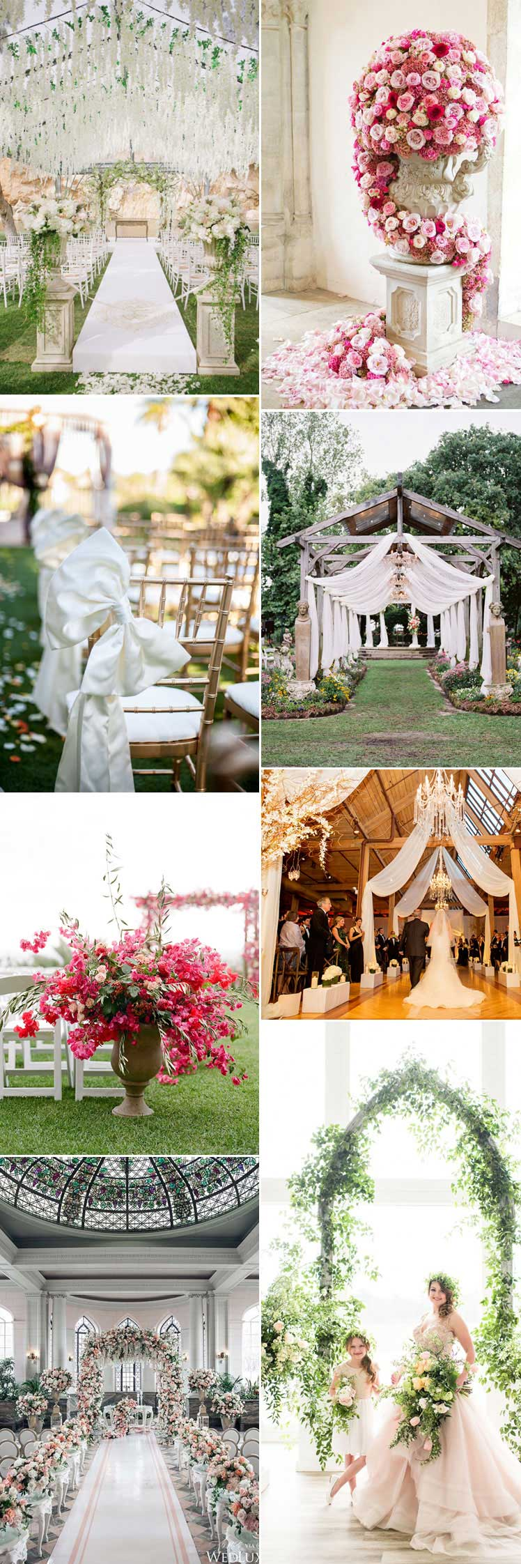 sensational wedding aisles