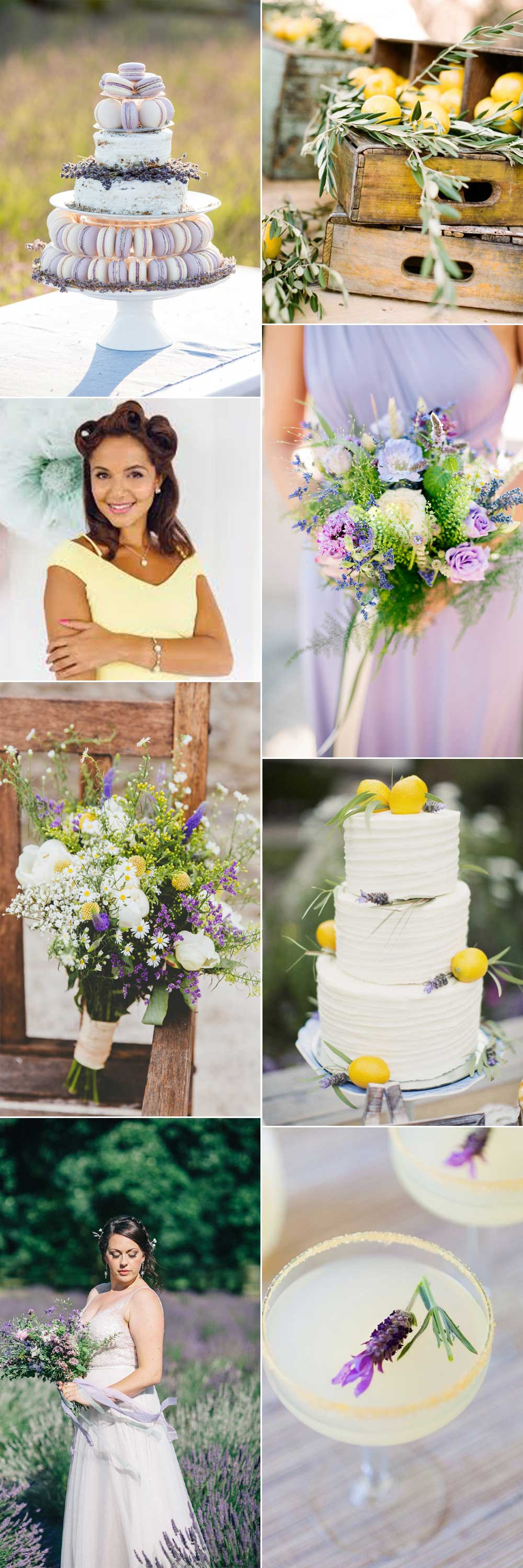 Pretty lemon and lavender wedding ideas