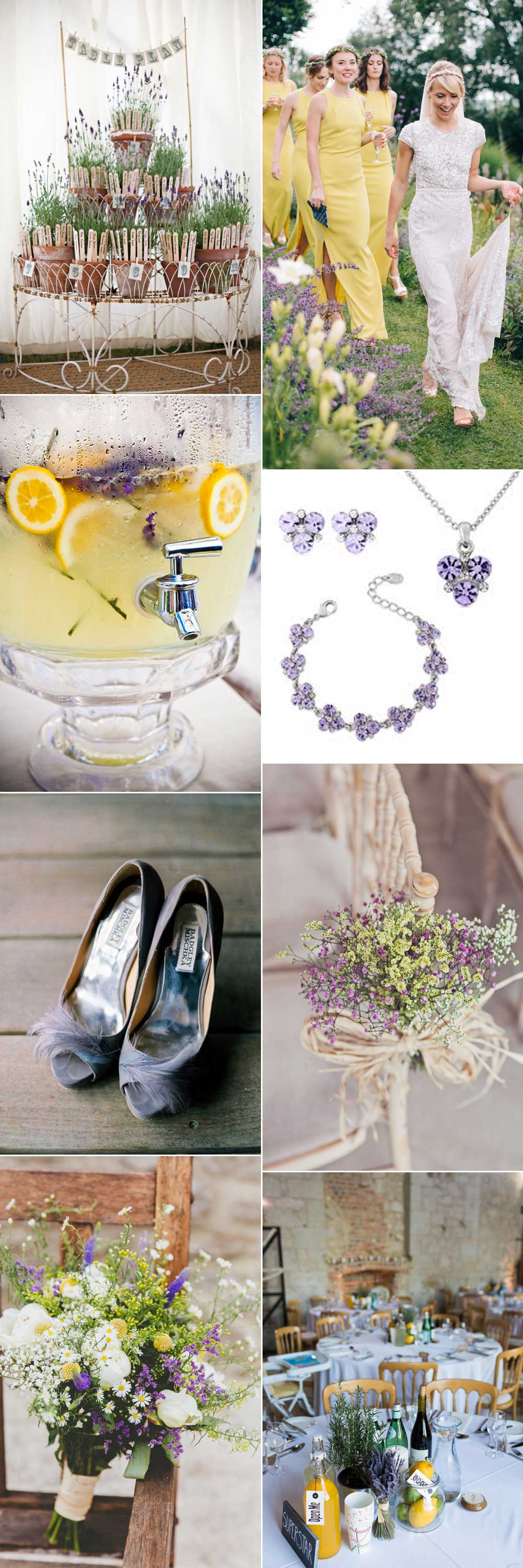 Lemon and lavender wedding inspirations