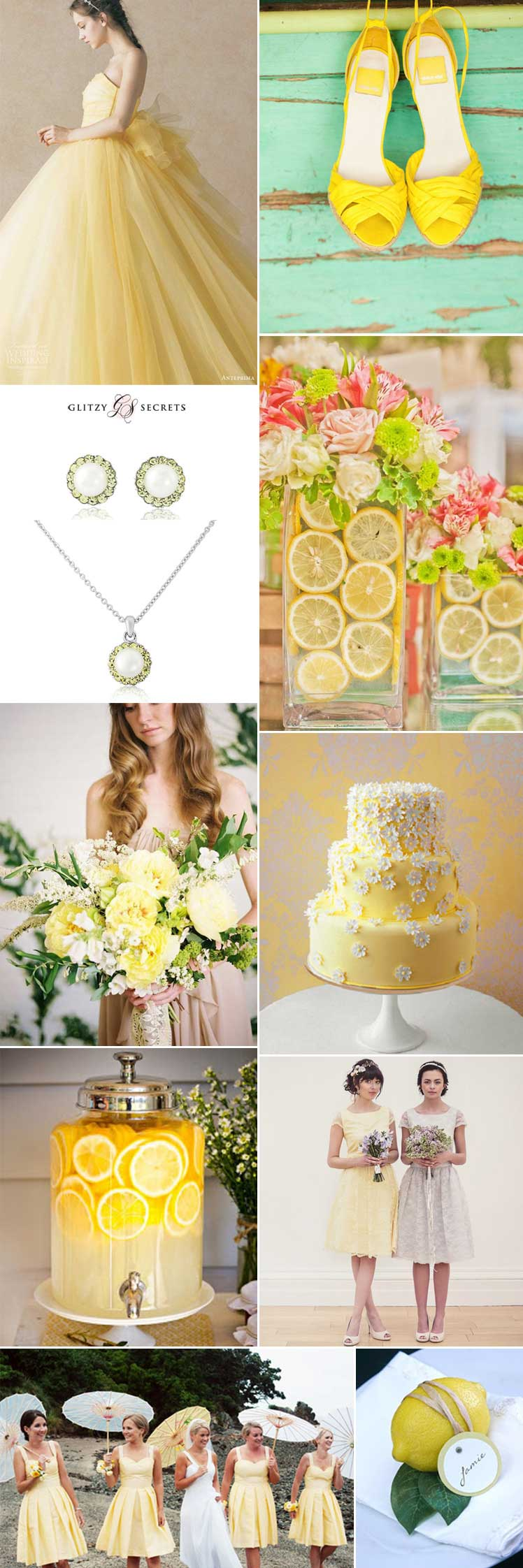 Lemon sorbet wedding ideas