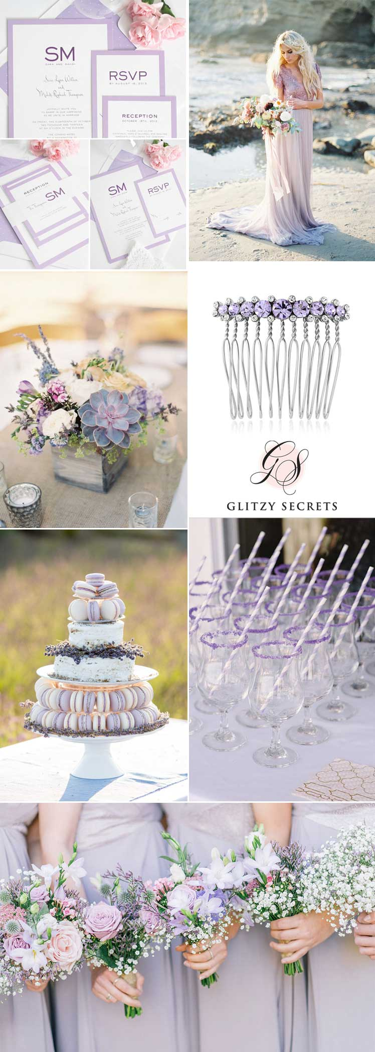Lilac wedding colour scheme ideas