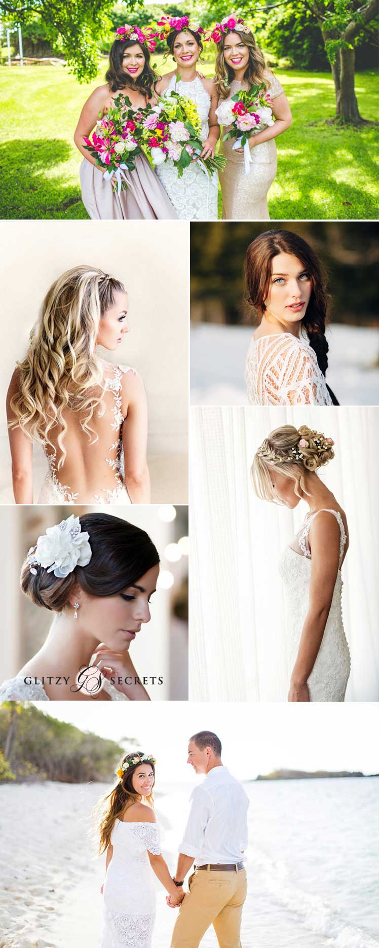Inspiration for your bridal hair and make-up for an abroad wedding