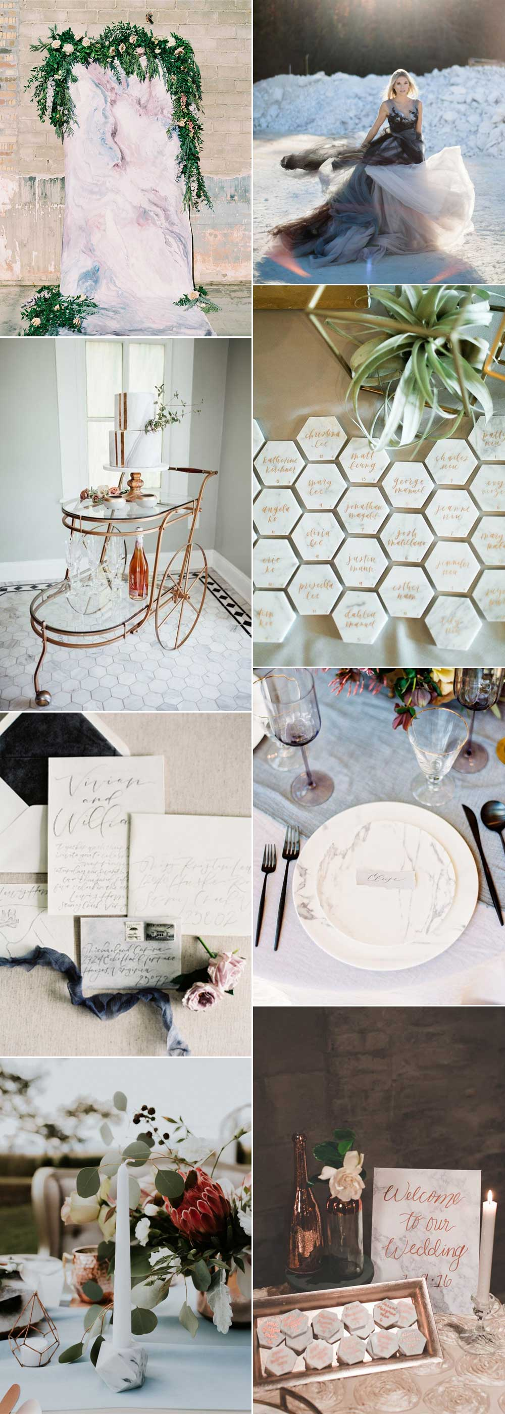 Marble wedding ideas for modern brides