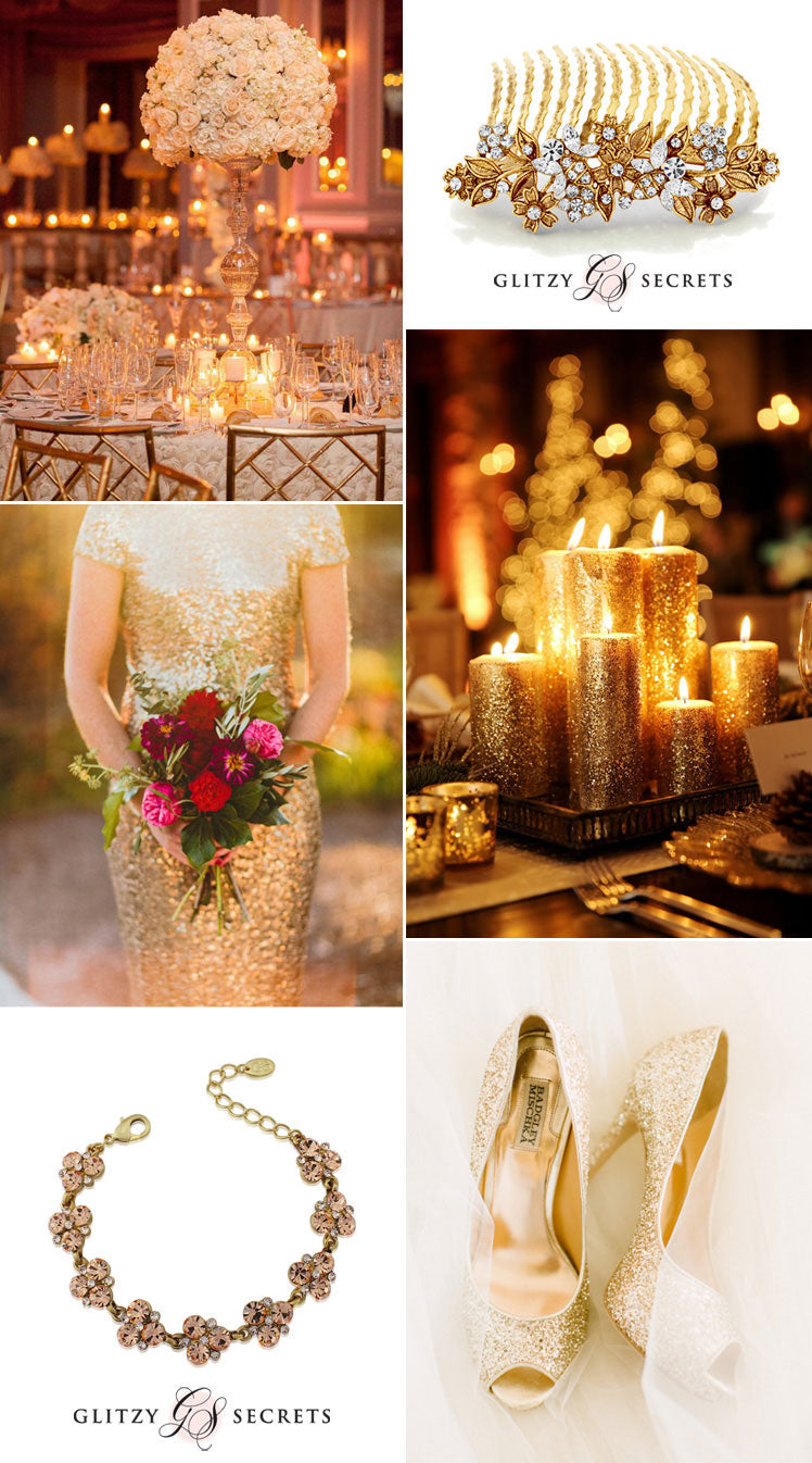 glittering metallic weddings - gold