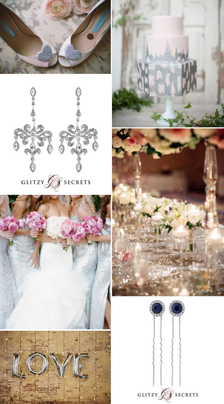 beautiful metallic weddings - silver