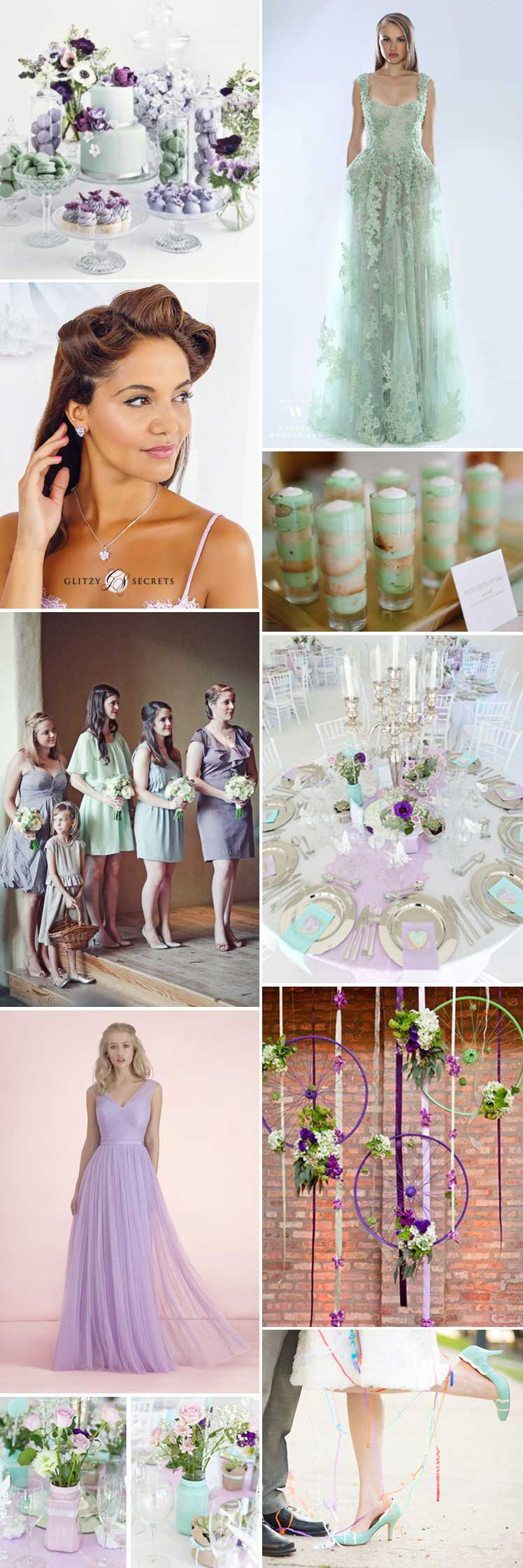The prettiest mint green and lilac wedding colour scheme ideas
