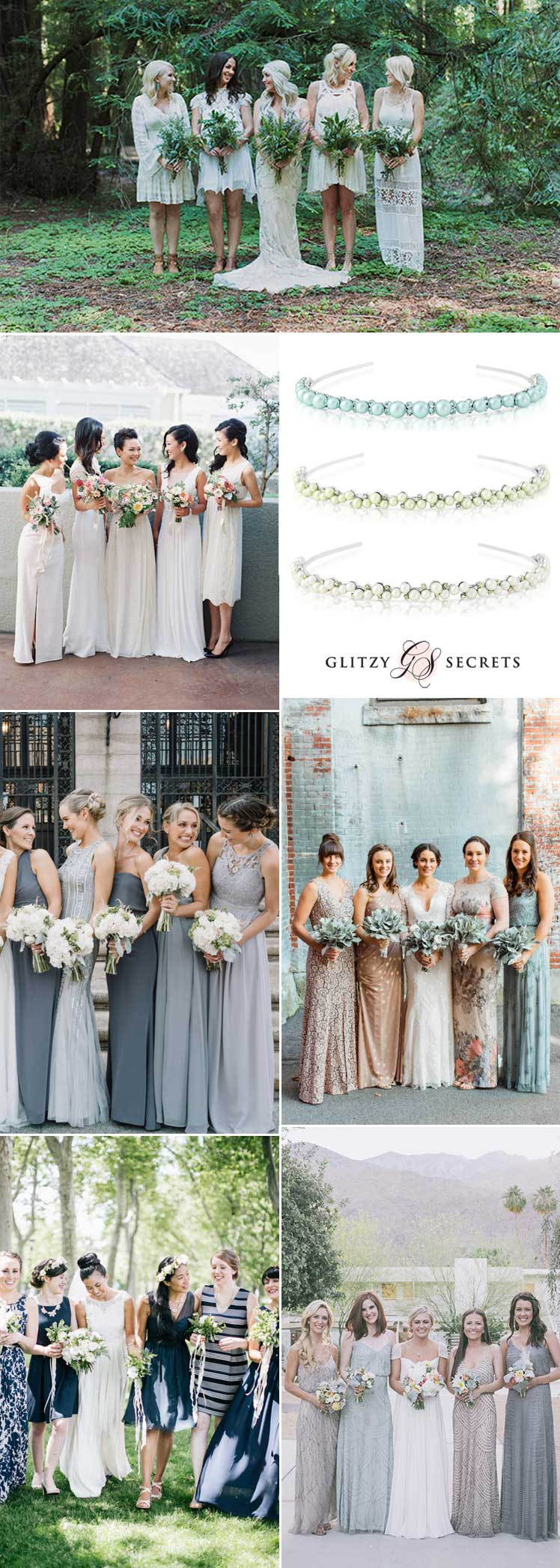 How to style mismatch bridal party dresses