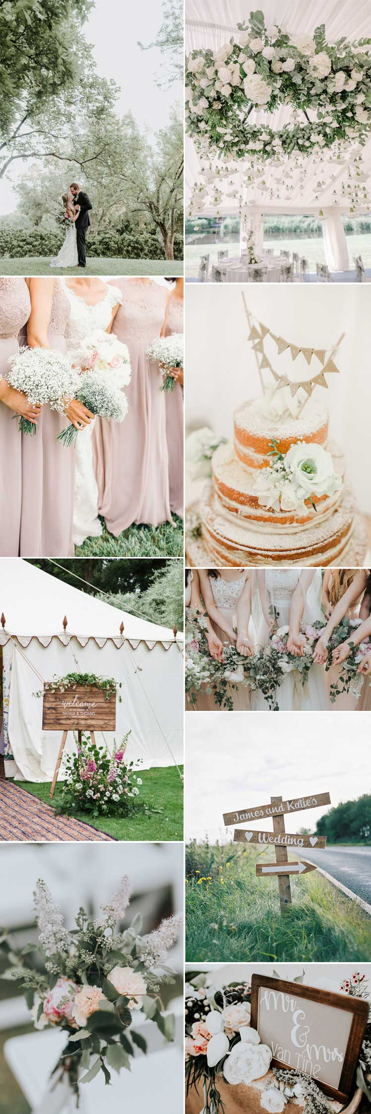 Inspiration for a modern country garden wedding day