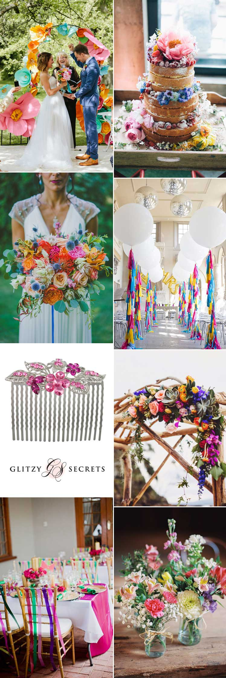 beautiful modern rainbow wedding inspiration