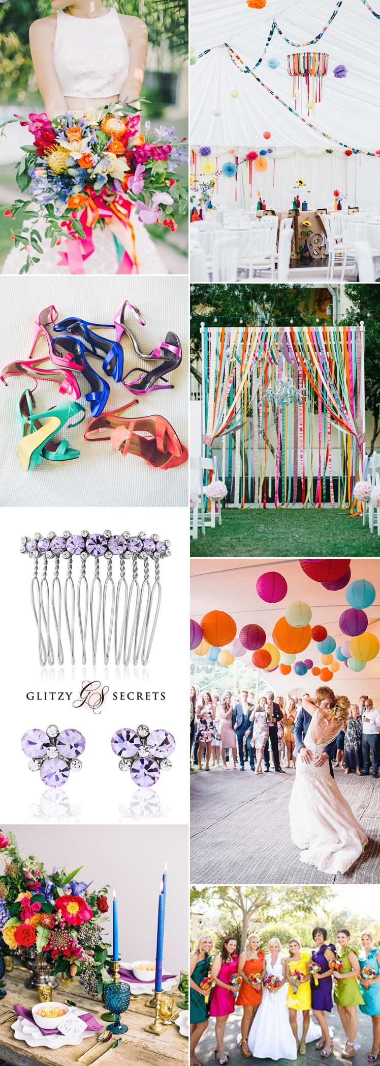 Modern multicolored Rainbow wedding inspiration