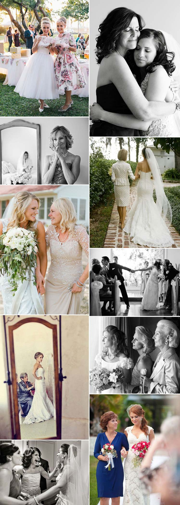 precious moments between and bride and her mother