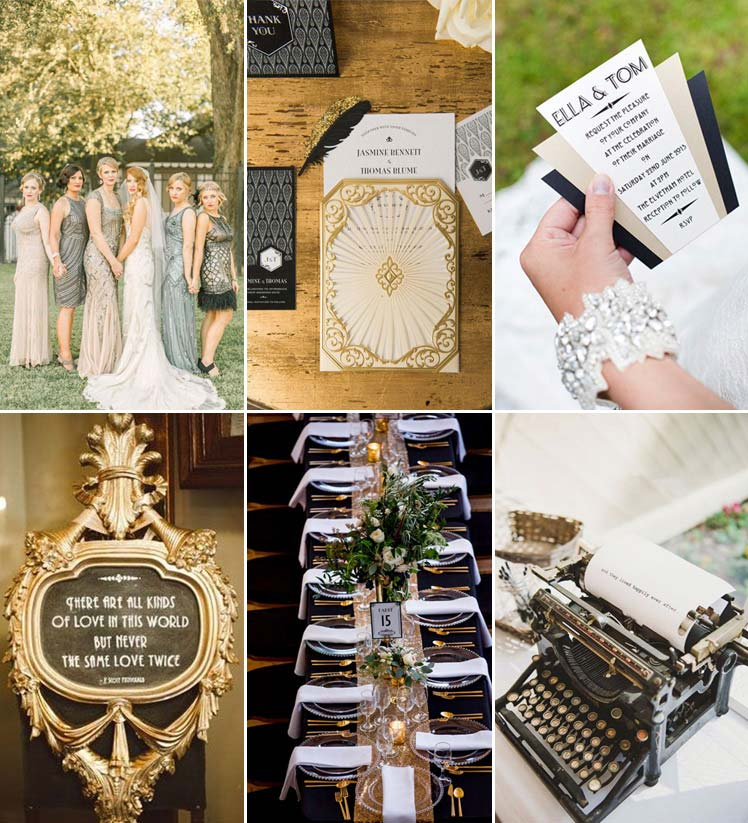 inspiration for a vintage theme wedding