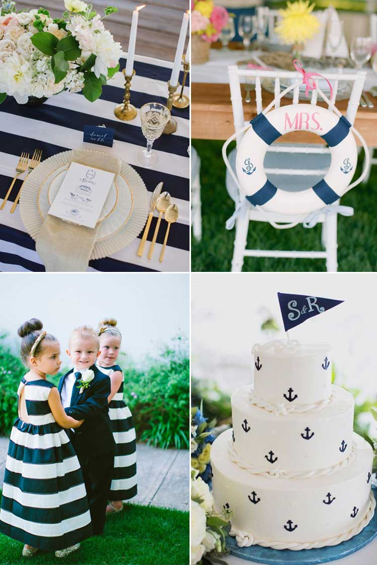 try a nautical theme for your navy wedding