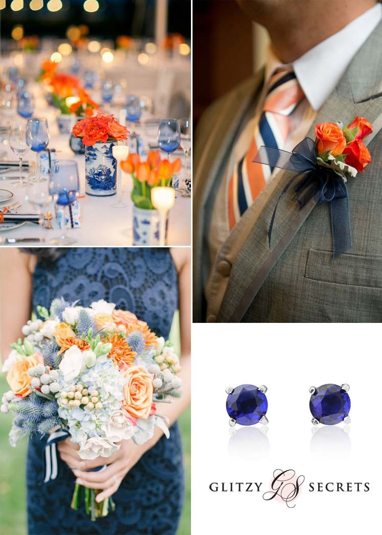 fabulous navy and orange wedding ideas for an Autumn wedding