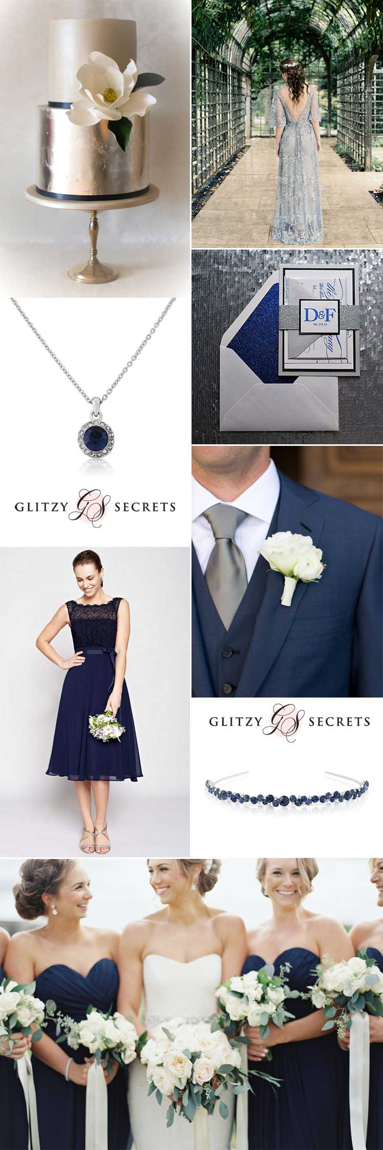 fabulous ideas for a navy and silver wedding
