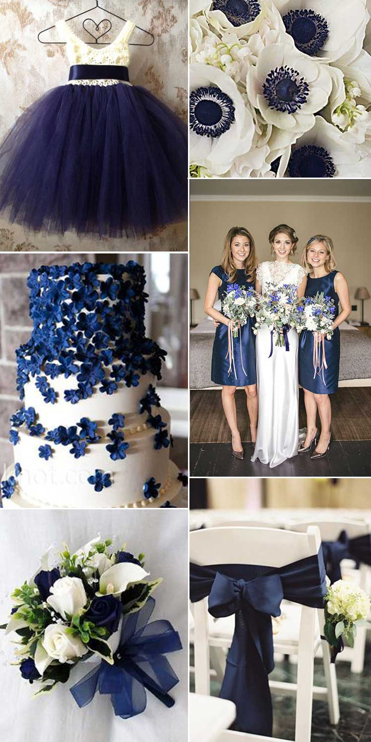The Contrast Between Navy And White Or Ivory Is Sensational As A Wedding Theme