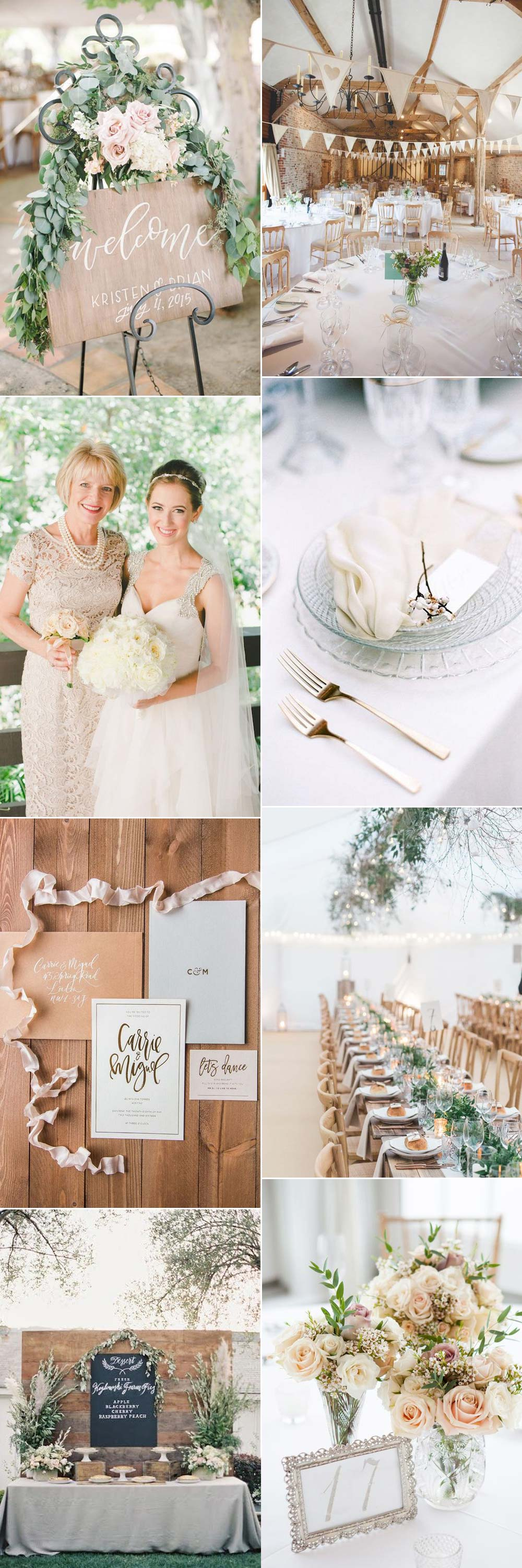 Neutral wedding colour theme ideas