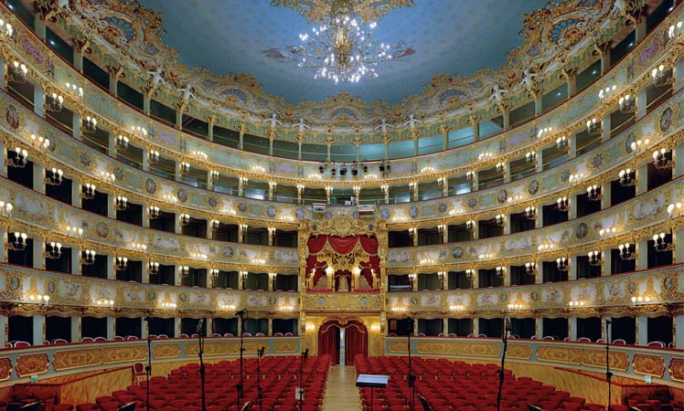Wedding venue at La Fenice Opera House Italy