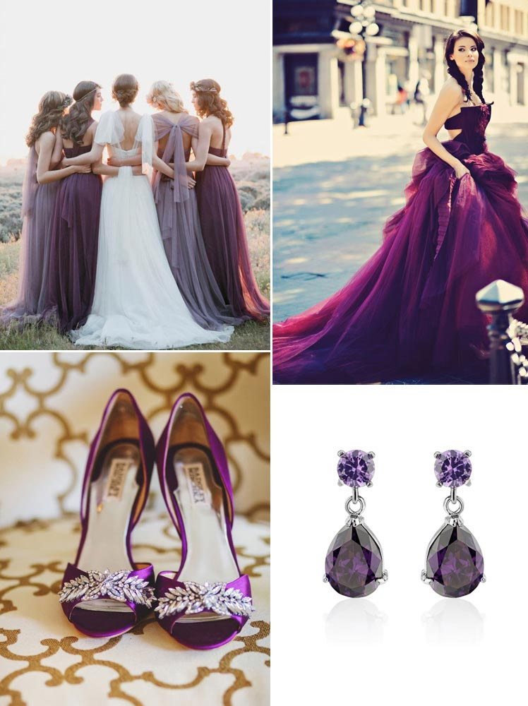 gorgeous amethyst inspiration from gowns to jewllery