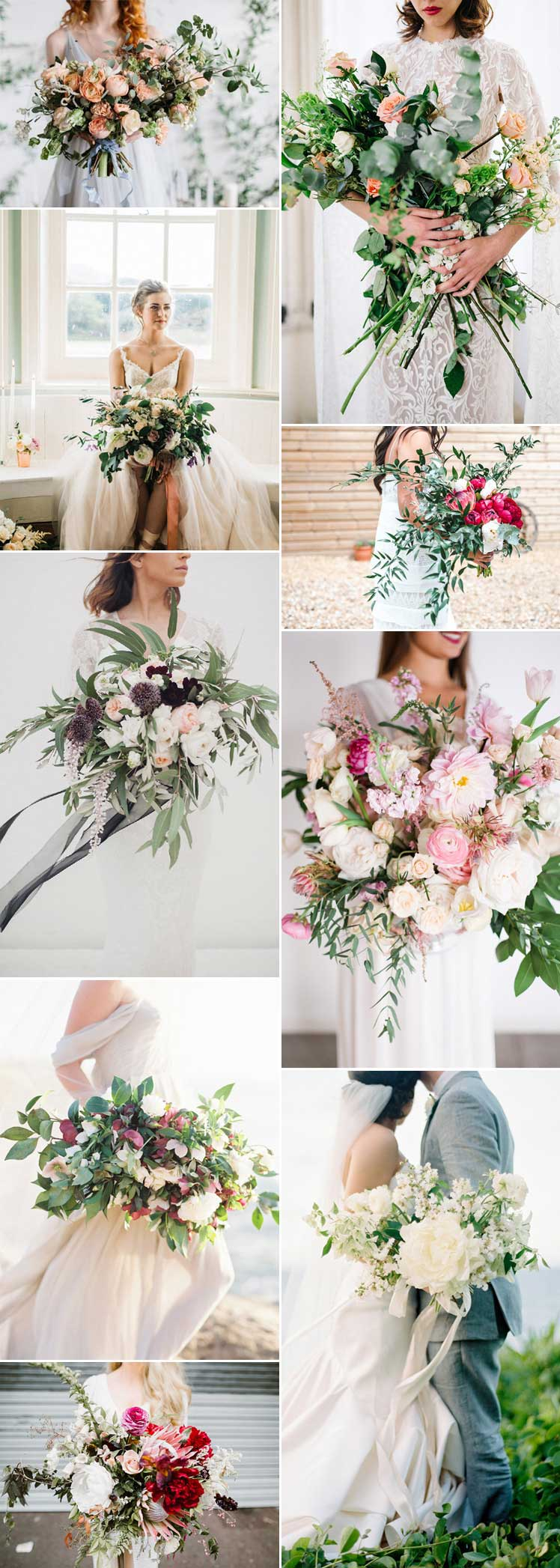 statement style with oversized bridal bouquets
