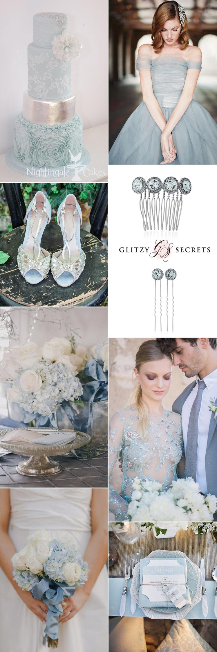 pastel blue and silver wedding ideas