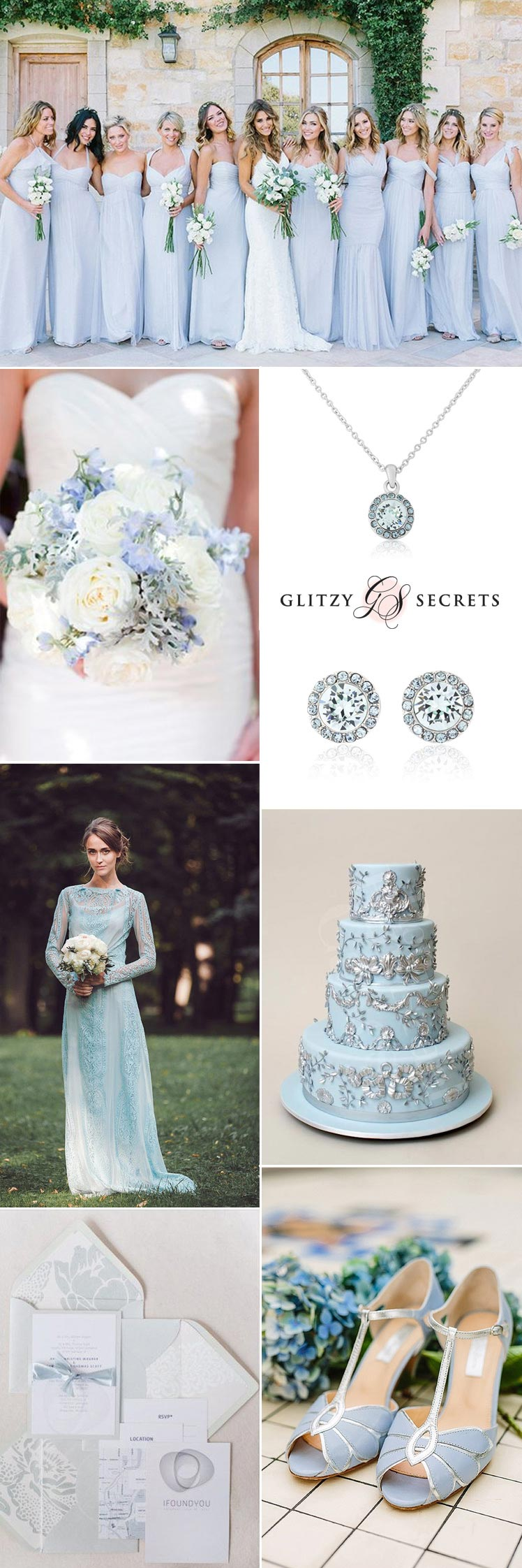 pale blue and silver wedding ideas