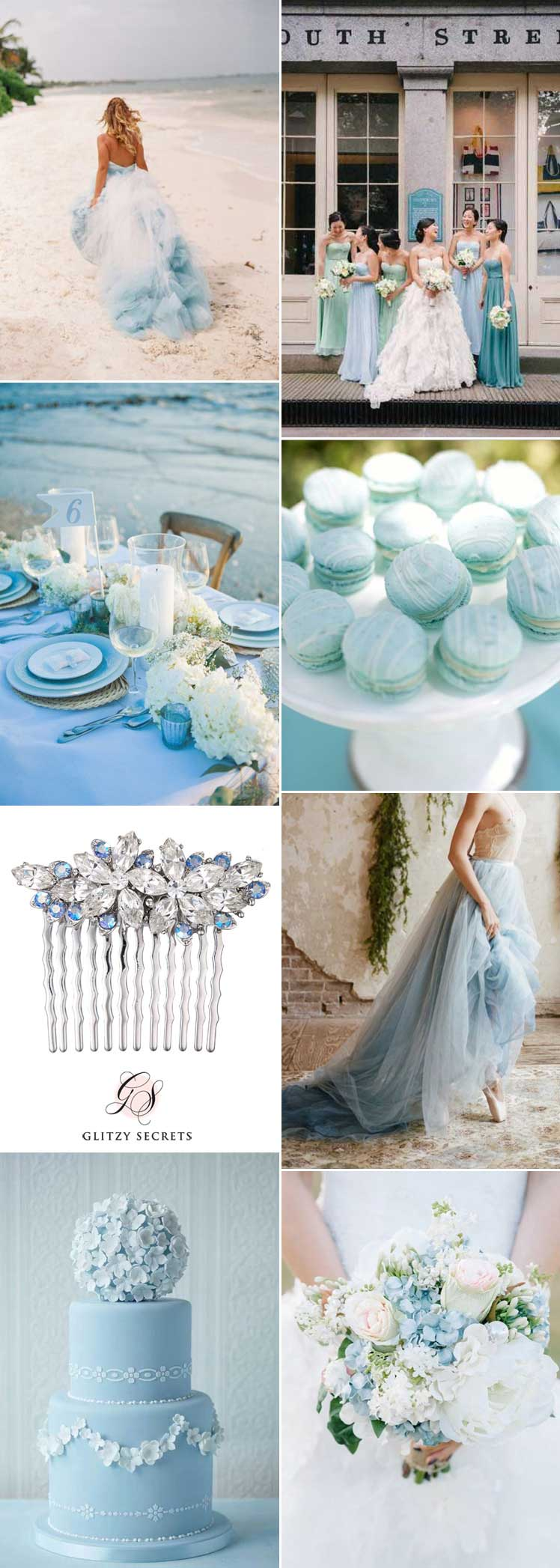 inspirational pale blue wedding ideas for your special day