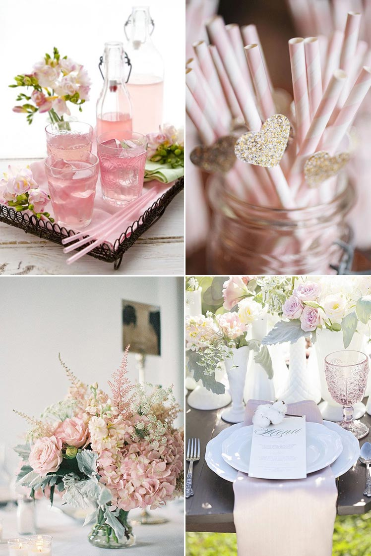 pastel pink wedding decor ideas