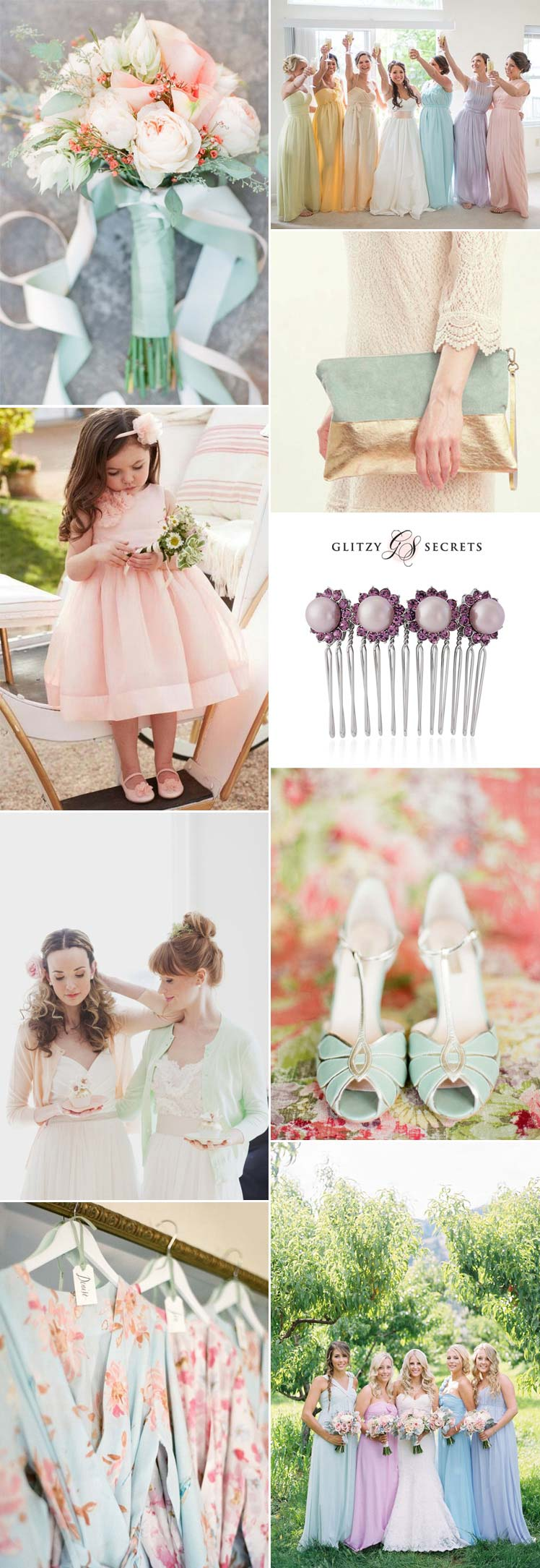 Pretty pastel bridesmaid style ideas